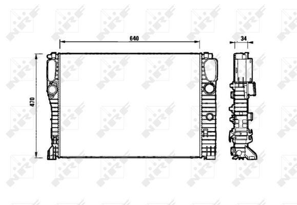 Radiateur de refroidissement NRF 53829 (X1)