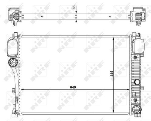 Radiateur de refroidissement NRF 53839 (X1)