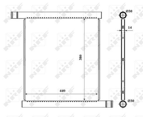 Radiateur de refroidissement NRF 53857 (X1)