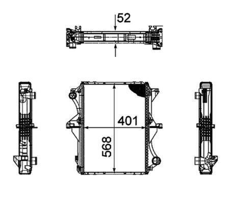 Radiateur de refroidissement NRF 53858 (X1)