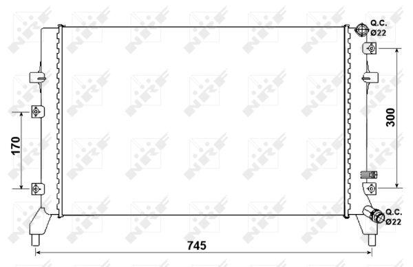 Radiateur de refroidissement NRF 53884 (X1)
