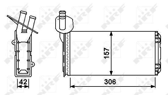 Radiateur de chauffage NRF 53889 (X1)
