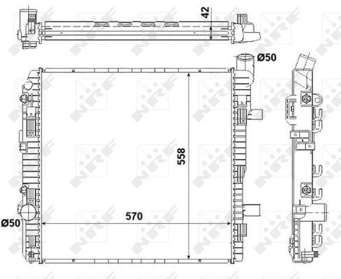 Radiateur de refroidissement NRF 53891 (X1)