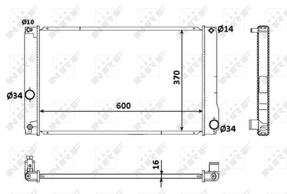 Radiateur de refroidissement NRF 53926 (X1)
