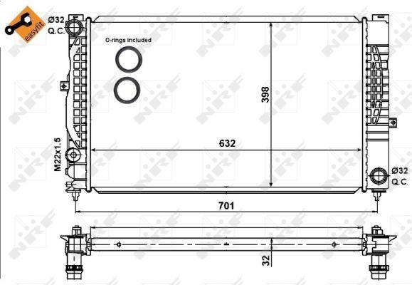Radiateur de refroidissement NRF 539504 (X1)