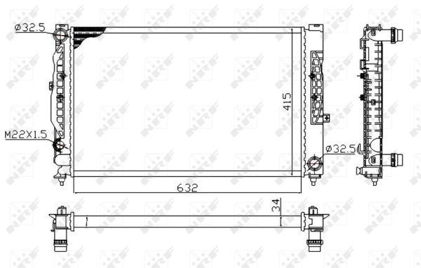Radiateur de refroidissement NRF 539504A (X1)