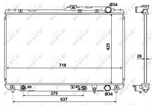 Radiateur de refroidissement NRF 53962 (X1)