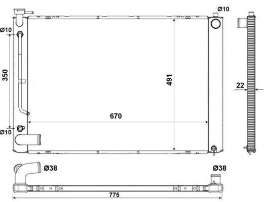 Radiateur de refroidissement NRF 53974 (X1)