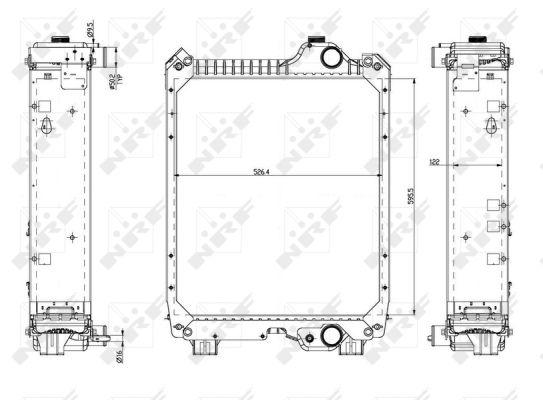 Radiateur de refroidissement NRF 54082 (X1)