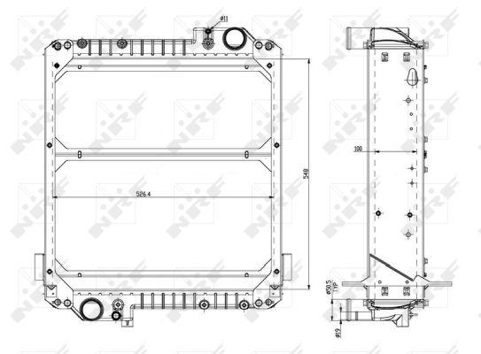 Radiateur de refroidissement NRF 54085 (X1)