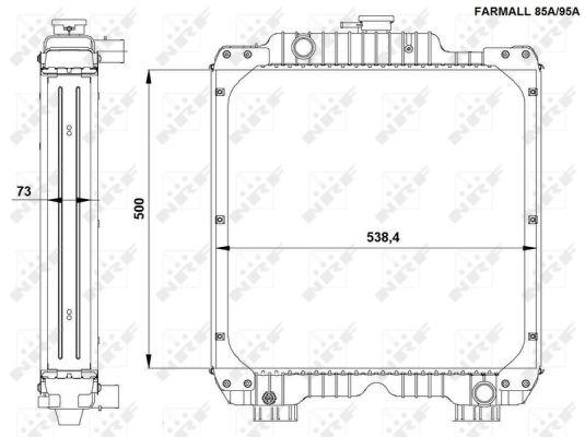 Radiateur de refroidissement NRF 54092 (X1)