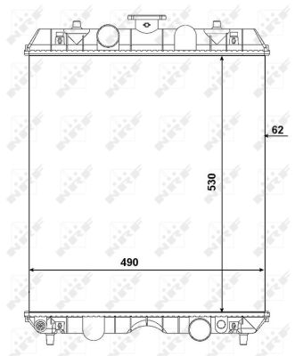 Radiateur de refroidissement NRF 54106 (X1)