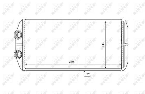 Radiateur de chauffage NRF 54210 (X1)