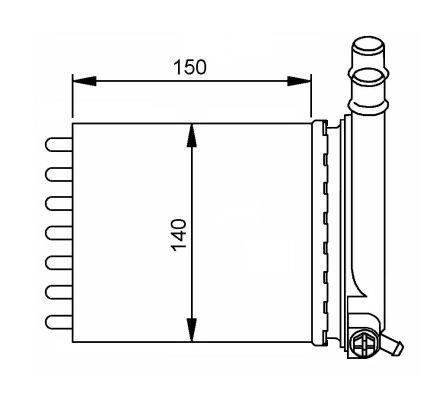 Radiateur de chauffage NRF 54212 (X1)