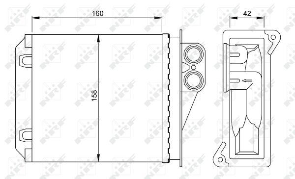 Radiateur de chauffage NRF 54236 (X1)