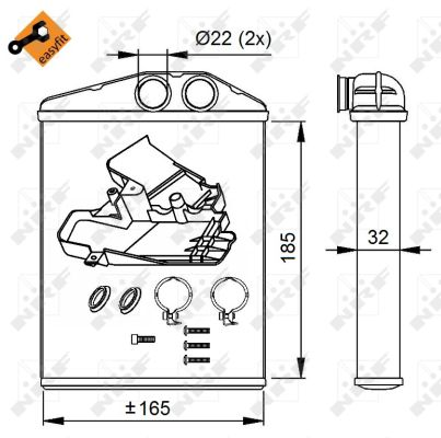 Chauffage NRF 54275 (X1)