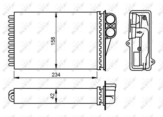 Radiateur de chauffage NRF 54304 (X1)