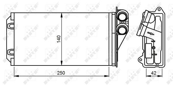 Radiateur de chauffage NRF 54305 (X1)