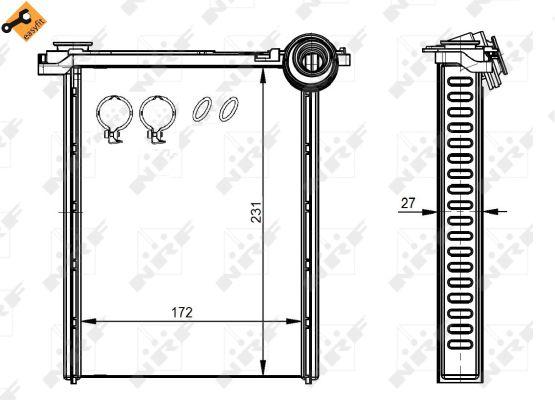Radiateur de chauffage NRF 54314 (X1)
