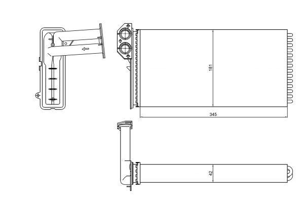 Radiateur de chauffage NRF 54320 (X1)
