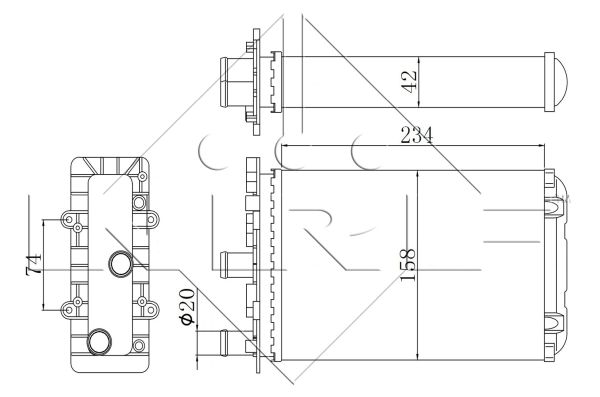 Radiateur de chauffage NRF 54321 (X1)