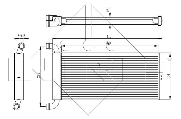 Radiateur de chauffage NRF 54326 (X1)