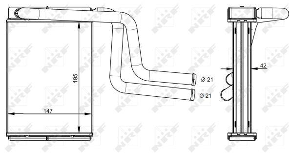 Radiateur de chauffage NRF 54330 (X1)