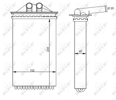 Radiateur de chauffage NRF 54331 (X1)