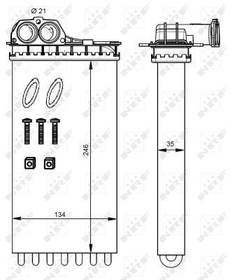 Radiateur de chauffage NRF 54332 (X1)