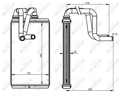 Radiateur de chauffage NRF 54337 (X1)