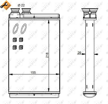 Radiateur de chauffage NRF 54347 (X1)