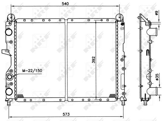 Radiateur de refroidissement NRF 54501 (X1)