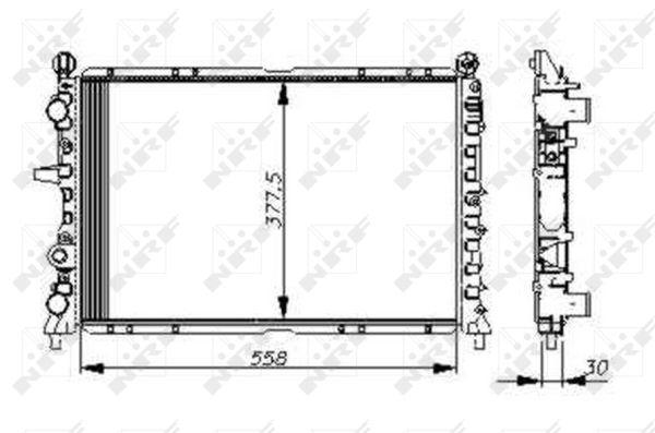 Radiateur de refroidissement NRF 54502 (X1)