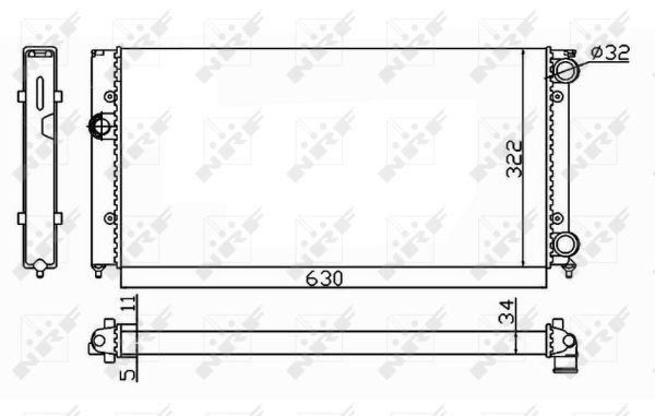 Radiateur de refroidissement NRF 54664 (X1)