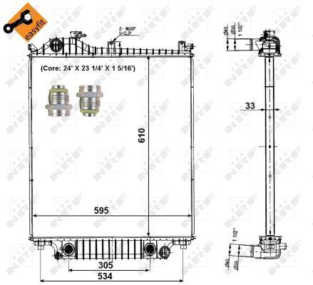 Radiateur de refroidissement NRF 56032 (X1)