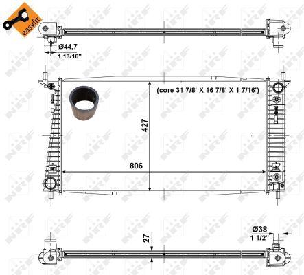 Radiateur de refroidissement NRF 56036 (X1)