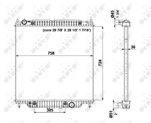 Radiateur de refroidissement NRF 56037 (X1)