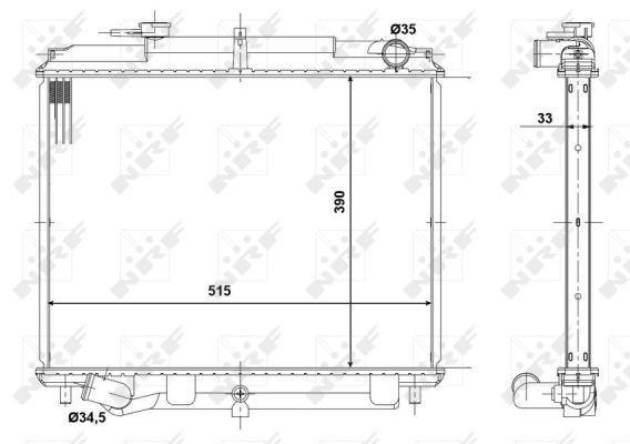 Radiateur de refroidissement NRF 56083 (X1)