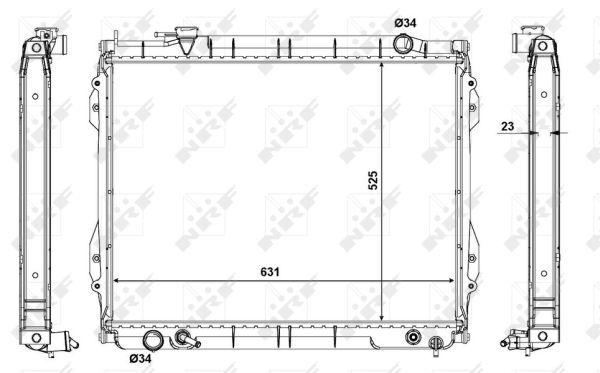 Radiateur de refroidissement NRF 56120 (X1)