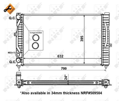 Radiateur de refroidissement NRF 56127 (X1)