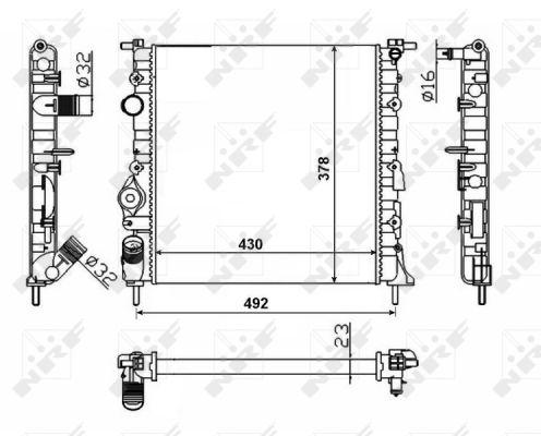 Radiateur de refroidissement NRF 58023 (X1)