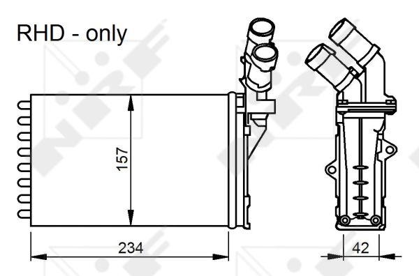 Radiateur de chauffage NRF 58034 (X1)