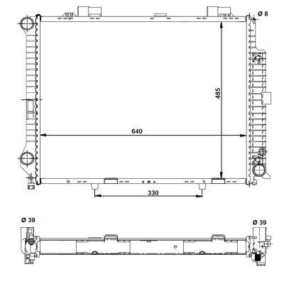 Radiateur de refroidissement NRF 58098 (X1)