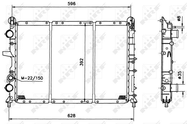 Radiateur de refroidissement NRF 58123 (X1)
