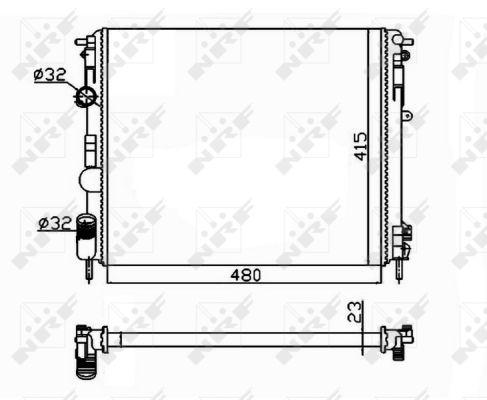Radiateur de refroidissement NRF 58148 (X1)