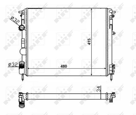 Radiateur de refroidissement NRF 58217 (X1)