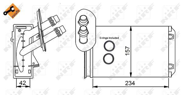 Radiateur de chauffage NRF 58223 (X1)