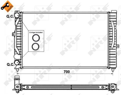 Radiateur de refroidissement NRF 58259 (X1)