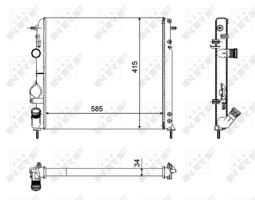Radiateur de refroidissement NRF 58325 (X1)