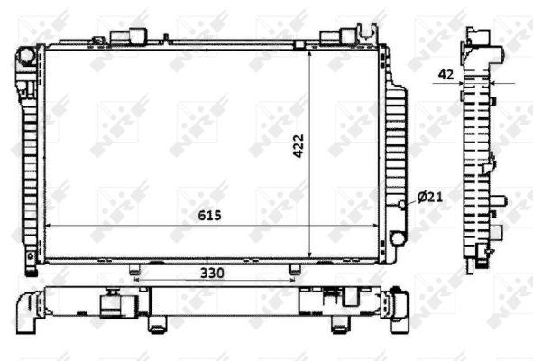 Radiateur de refroidissement NRF 58350 (X1)